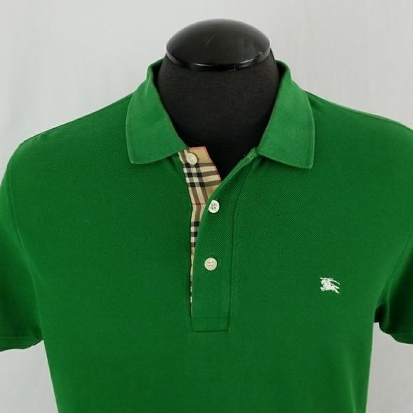 84ab8e3adb6a Burberry Shirts   Mens London Slim Fit Polo Green Sz Large   Poshmark